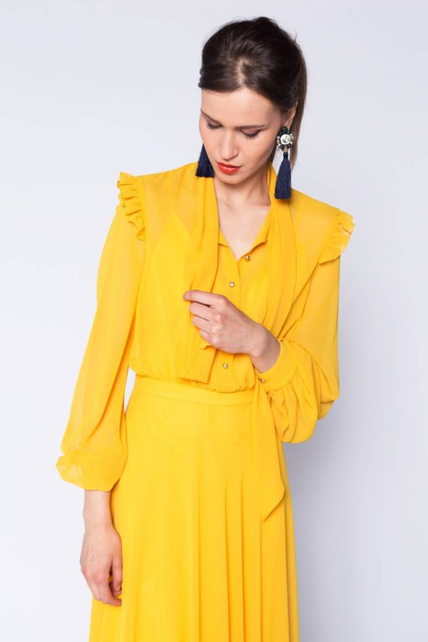 Rochie lunga cu esarfa (2)