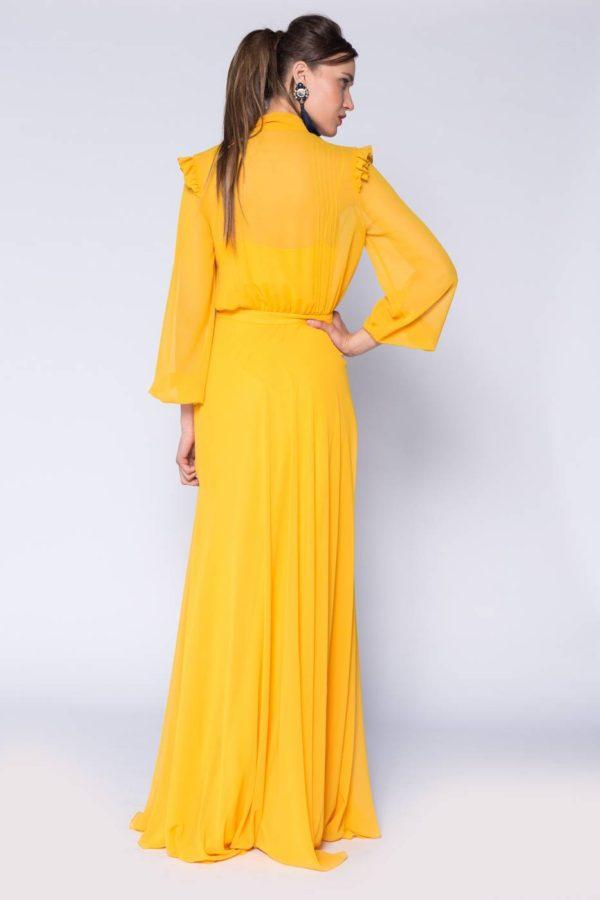 Rochie lunga cu esarfa (3)