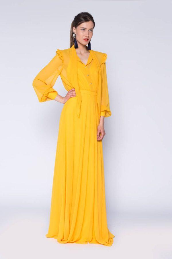 Rochie lunga cu esarfa (4)