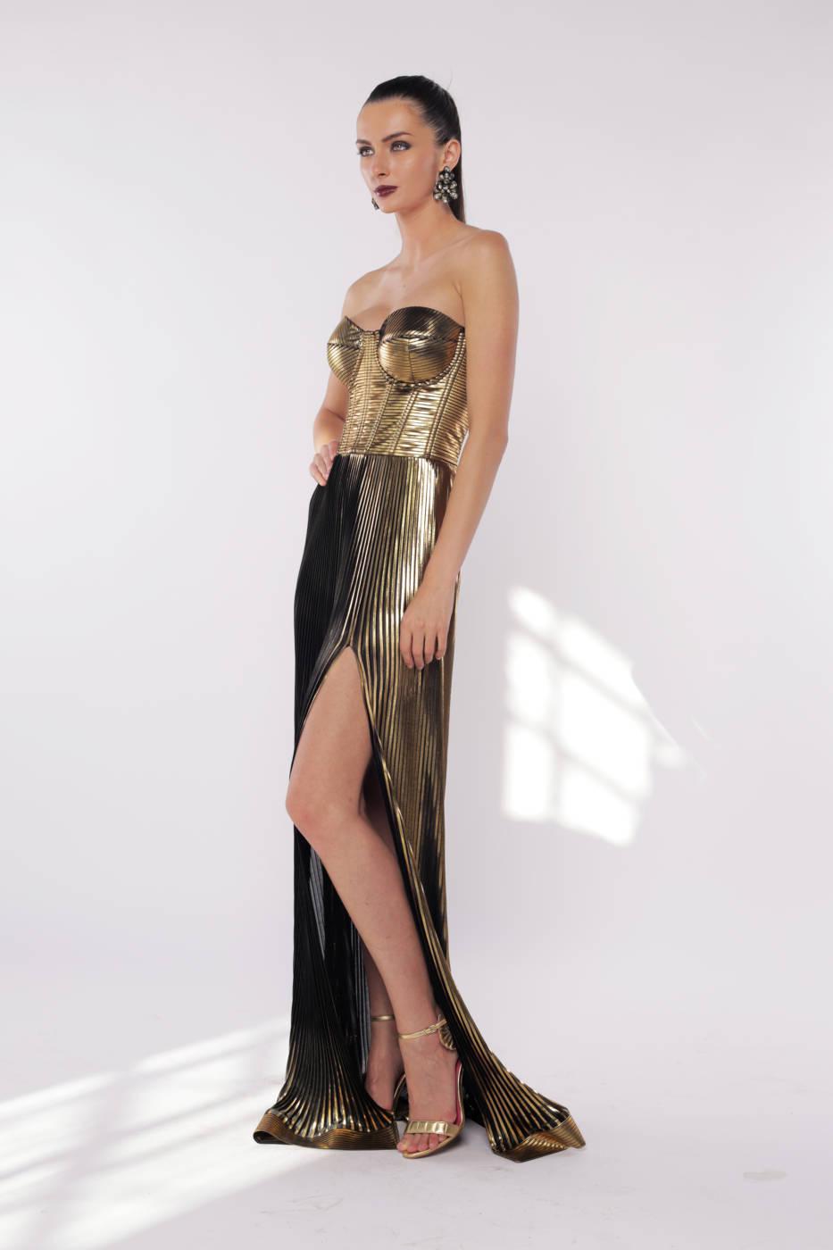 Rochie plisata cu corset lunga, 1000,00 RON, Silk Love & Lace